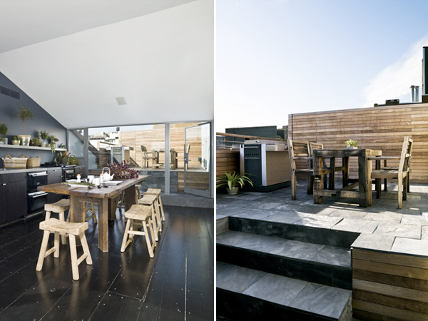 54 Bond Street - rooftop kitchen and deck