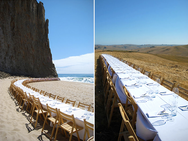 Outstanding in the Field - Dining Tables on the beach