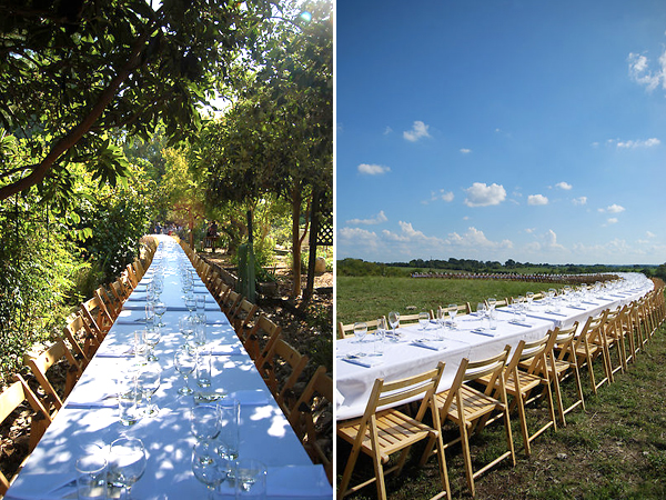 Outstanding in the Field - Dining table in the woods