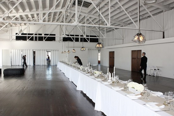 Single Long Dining Table - Wedding Reception