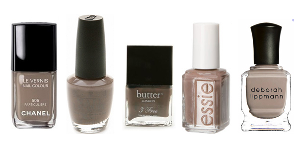 Greige Nail Polishes